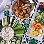 Easy to Make Party Food | This party spread is great for St. Patrick's Day. Cooked Perfect Grilled Chicken with simple fruits and veggies | TodaysCreativeLife.com