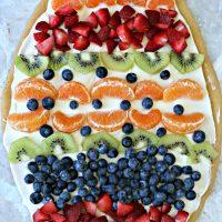Sugar Cookie Easter Egg Fruit Pizza