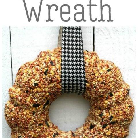 How to Make a Birdseed Wreath | Homemade Bird Food | Feed the birds | DIY bird feeder | TodaysCreativeLife.com
