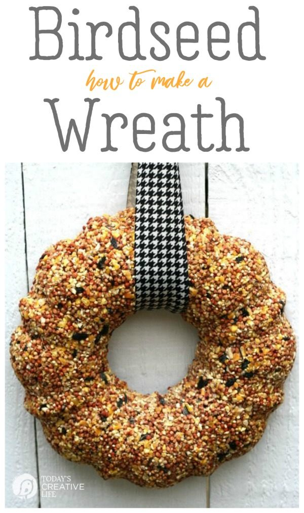 How to Make a Birdseed Wreath | Homemade Bird Food | Feed the birds | DIY bird feeder | TodaysCreativeLife.com