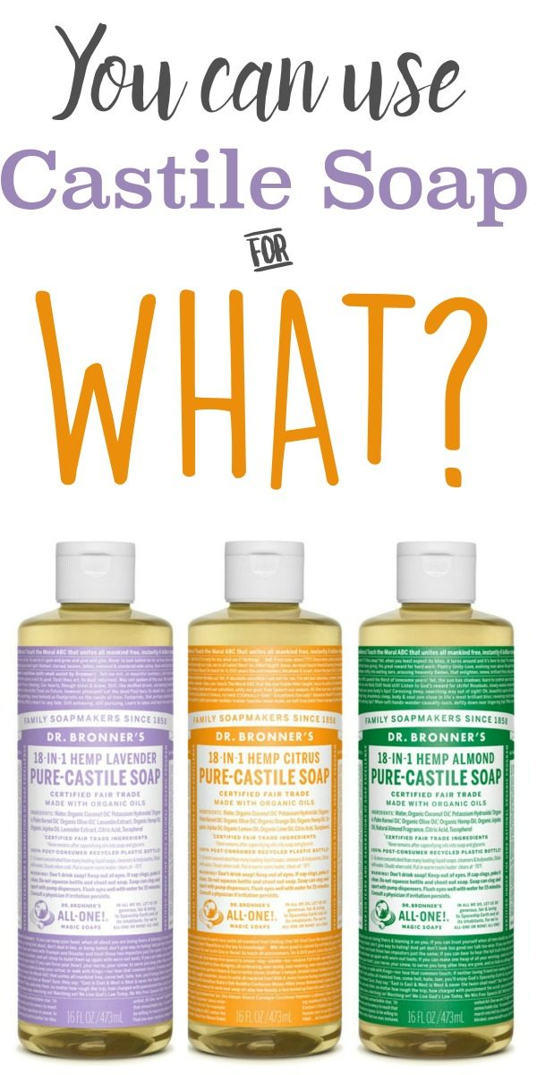 10 Frugal Ways to Use Castile Soap | Natural cleaning supplies, shampoo, toothpaste and more! Find out all the different ways you can use Dr. Bronners Castile soap | TodaysCreativeLife.com