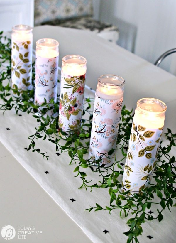 Diy Paper Wred Candles Centerpiece Easy Craft Home Decor On A Budget