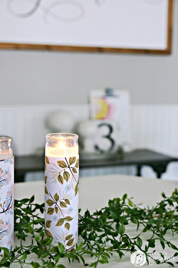 Diy Paper Wrapped Candles Centerpiece Today S Creative Life