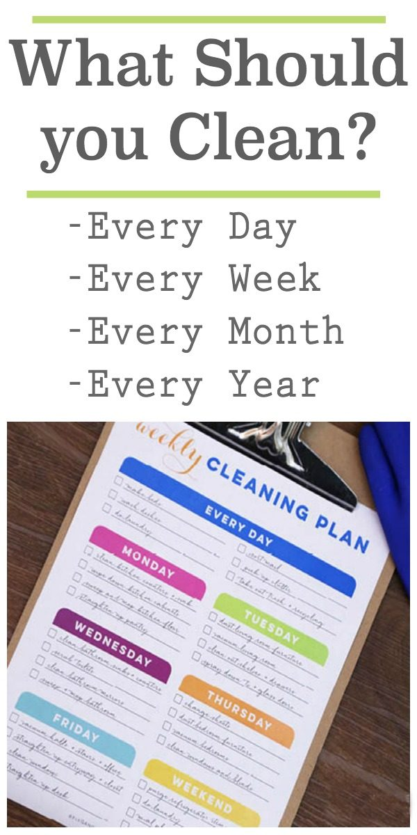 How Often Should You Clean Things in your Home | Free Printable Cleaning Schedule | Yearly, 6 months, monthly and weekly | Organize and clean your home | TodaysCreativeLife.com