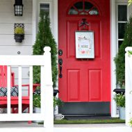 Simple Porch Decorating for Spring