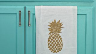 Glittered Pineapple Dish Towel