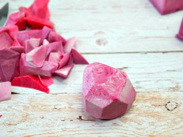 Handmade Gemstone Shaped Soap | How to Make Soap | DIY Soap Recipes | Shaped Soap Ideas | Pink Soap. EverythingEtsy.com for TodaysCreativeLife.com