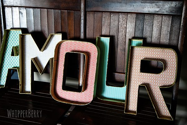 DIY Designer Cardboard Letters | Create Marquee Letters | TodaysCreativeLife.com