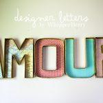 DIY Designer Cardboard Letters | No Light Marquee Letters | DIY Wall Decor | TodaysCreativeLife.com