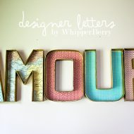 DIY Designer Cardboard Letters | No Light Marquee Letters | DIY Wall Decor | TodaysCreativeLife.com
