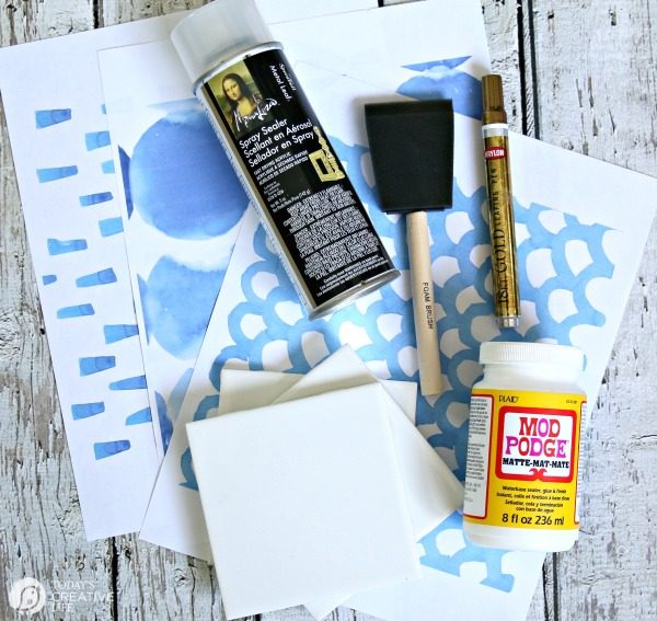 DIY Drink Coasters | Supplies for Making coasters | TodaysCreativeLife.com
