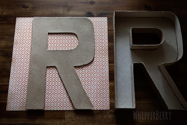 DIY Designer Cardboard Letters | Scrapbook paper Crafts | TodaysCreativeLife.com