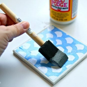 DIY Drink Coasters | Free Printable Shibori Designed paper | DIY Craft | Mod Podge Crafts | TodaysCreativeLife.com