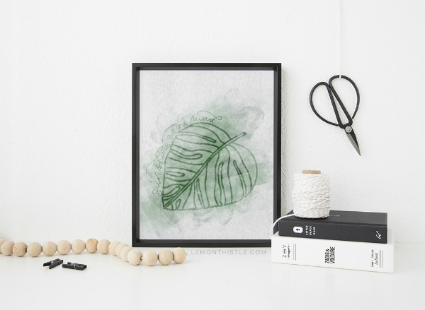 Tropical Leaves Free Printable Wall Art
