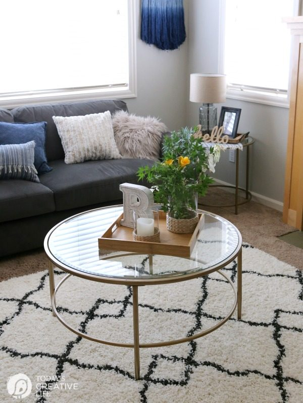 Family Room Ideas on a Budget | BEFORE and after living room decorating ideas | Room makeover decor | redecorating your home on a budget | TodaysCreativeLife.com