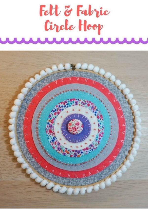 Fabric and Felt Circle Hoop