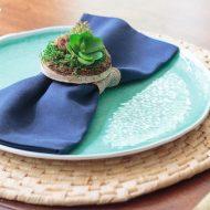 Succulent Napkin Rings DIY