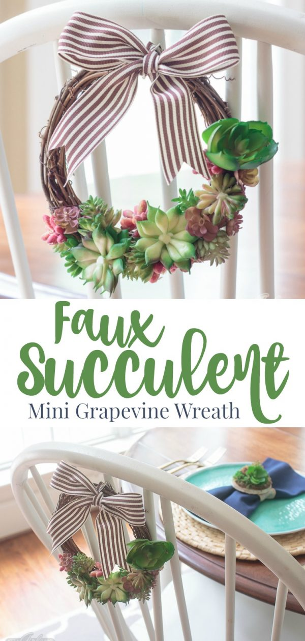 Faux Succulent Wreath by Atta Girl Says