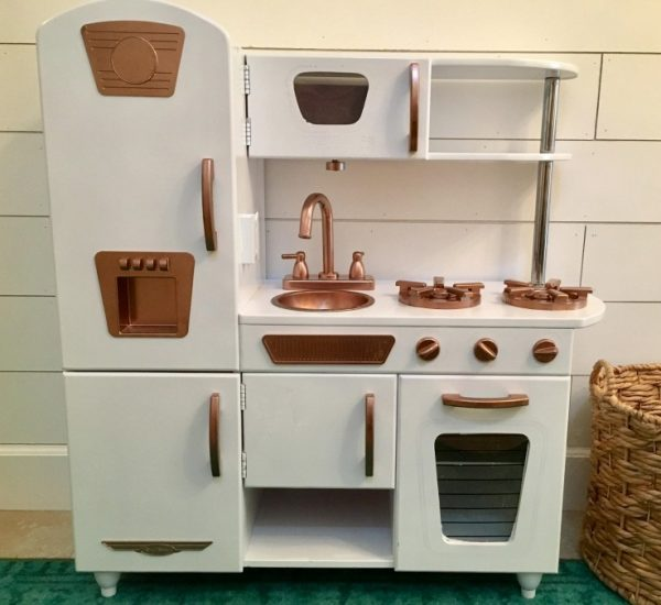 Play Kitchen Makeover by Salvage Sister and Mister