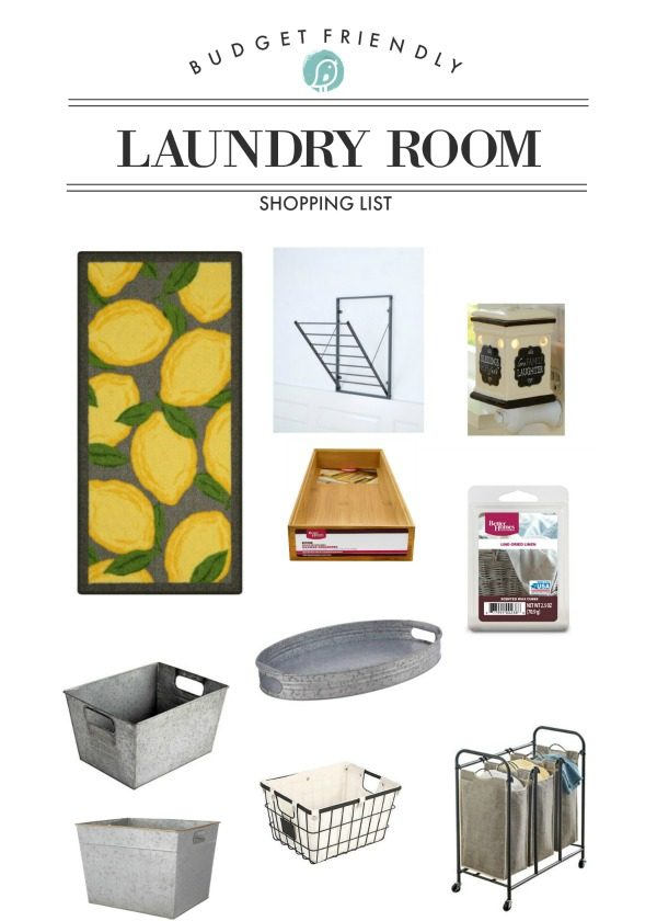 laundry room makeover shopping list