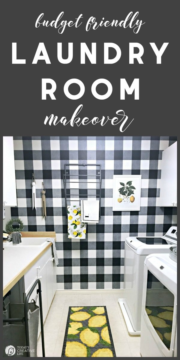 titled image: Budget Friendly Laundry Room Makeover