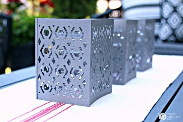 DIY Cricut Paper Lantern | Hurricane Cover Lanterns using the Cricut Scoring Wheel | DIY Crafts | Home Decorating Crafts | TodaysCreativeLife.com