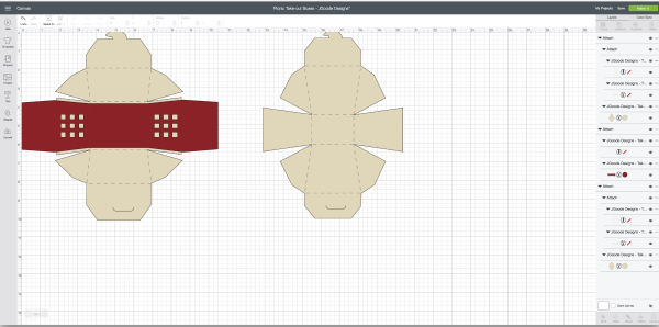 Cricut Scoring Wheel Take Out Boxes | DIY Gift Box | Cricut Maker Project ideas | TodaysCreativeLife.com