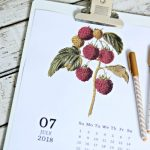 Printable 2018 Vintage Fruit Calendar | TodaysCreativeLife.com