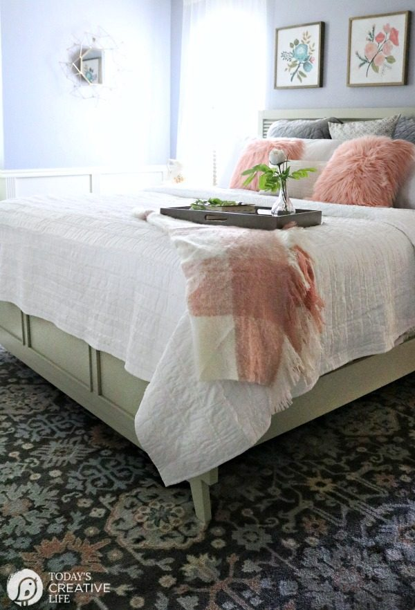 Budget-Friendly Bedroom Decorating Ideas | Room Makeover | Inexpensive and stylish decor for your guest or master bedroom. TodaysCreativeLife.com #BHGLivebetter AD