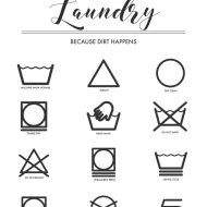 Printable Laundry Symbols Wall Art