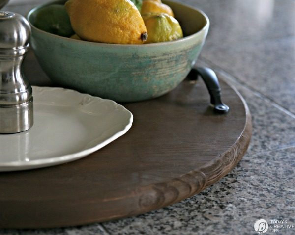 How to Make a Large Round Serving Tray | TodaysCreativeLIfe.com