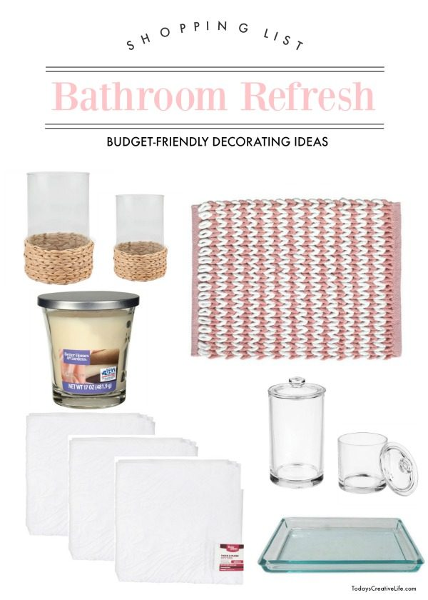 Bathroom Decorating Ideas Shopping list | TodaysCreativeLife.com