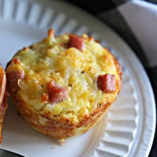 Hash Brown Ham and Cheese Egg Cups | Easy grab and go Breakfast recipe ideas | back to school recipes | high protein | TodaysCreativelife.com