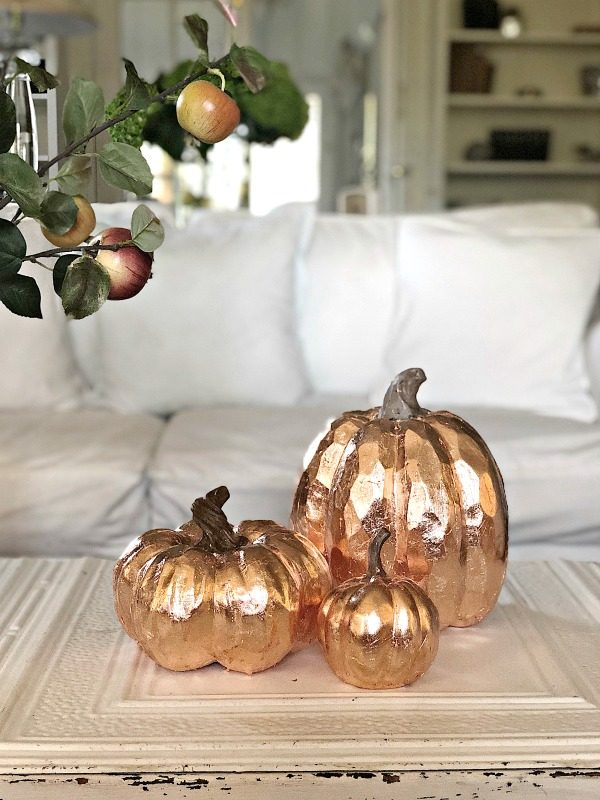 Copper Leaf Pumpkins | My 100 Year Old Home