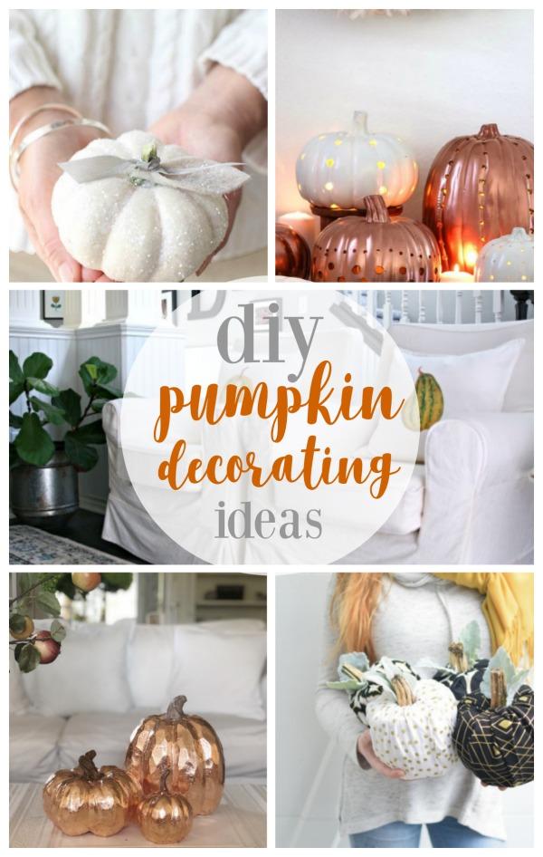 DIY Pumpkin Decorating Ideas for Fall | Fall Craft ideas | DIY Decorating for Autumn | No Carve Pumpkins, No Sew Pumpkins | TodaysCreativeLife.com