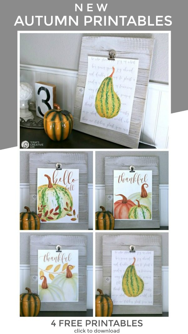 Free Printable Wall Art for Fall | Printable Wall Decor for Autumn | Where to find printable wall art | Decorating for Fall | DIY Decor Ideas | inexpensive ways to decorate | Printable Decor | Seasonal Fall DIY | TodaysCreativeLife.com