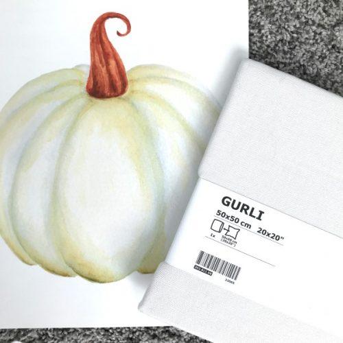 DIY Iron On Pillow for Fall | Pumpkin Pillow