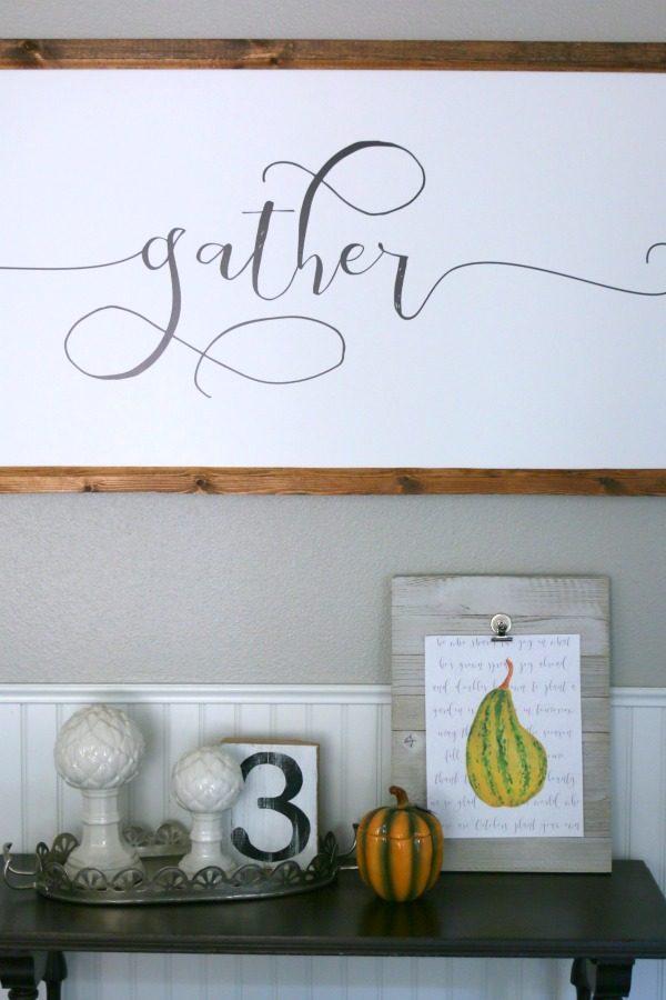 DIY Printable Fall Wall Decor | TodaysCreativeLife.com