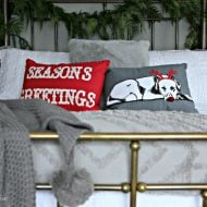 Guest Bedroom Holiday Makeover | Christmas Bedroom Ideas | TodaysCreativeLife.com