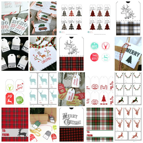 Gift Tag Bundle for Christmas Gift Tags | Printable | TodaysCreativeLife.com