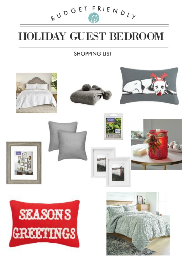 Budget Friendly Holiday Bedroom Makeover Shopping list | TodaysCreativeLife.com