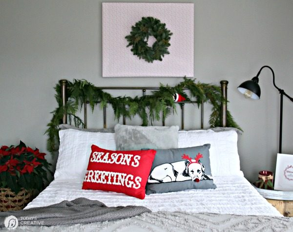 Guest bedroom makeover for the Christmas holiday