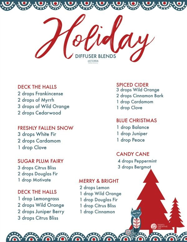 Essential Oil Holiday Diffuser Blends | TodaysCreativeLife.com
