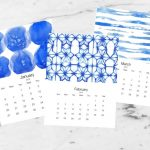 Free Printable 2019 Calendar | Shibori Inspired | Today's Creative Life