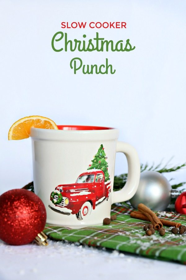 Slow Cooker Christmas Punch | Warm Holiday Punch made with juices and red hot candies | Crockpot Drinks | TodaysCreativeLIfe.com