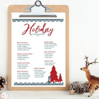 Essential Oil Diffuser Blends for Christmas | Cozy scents for the winter | TodaysCreativeLife.com