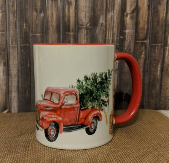 Holiday Red Truck Mug