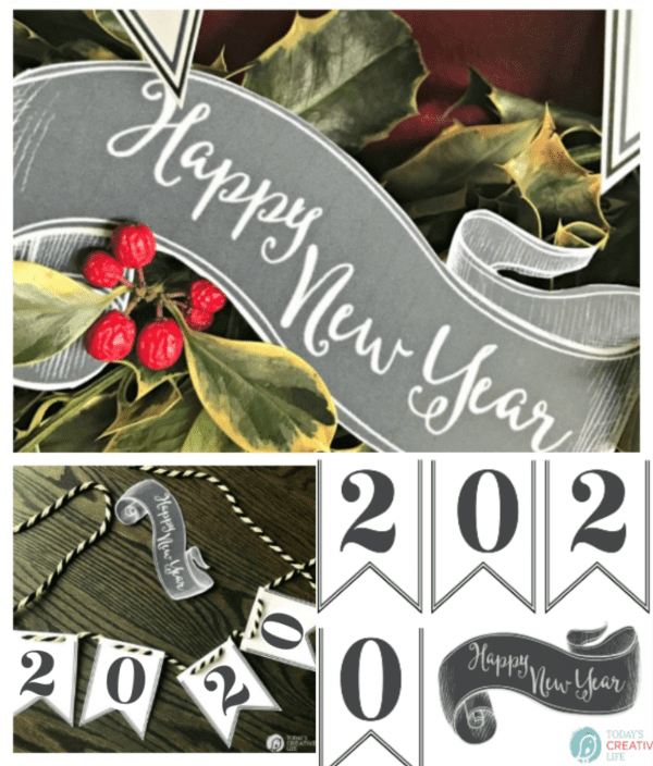 photo collage for New Years Eve holiday decor
