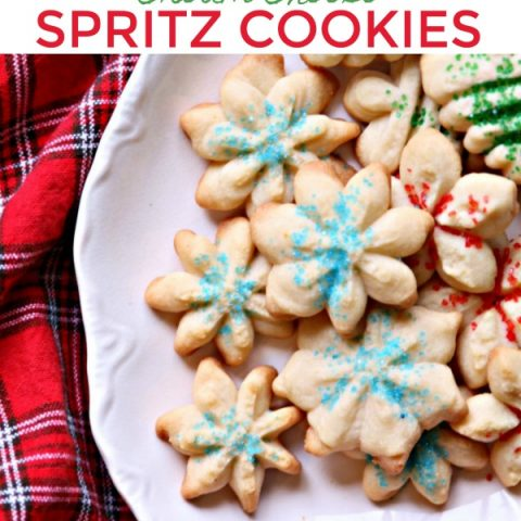 Cream Cheese Spritz Cookie Recipe | Christmas Cookie Recipe | Spritz Cookies using Cookie Press | TodayscreativeLife.com