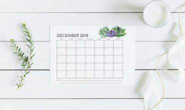 Print your own Calendar 2019 | TodaysCreativeLife.com